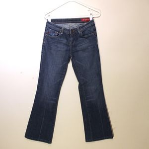 Seven7 Size 31 Flare Blue jeans